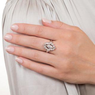 Vintage .76 Carat Marquise Diamond Dinner Ring - GIA D VS1