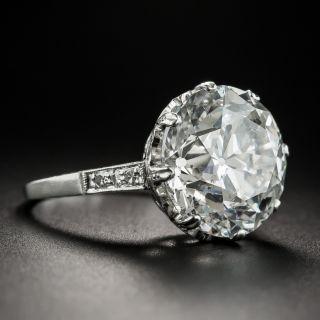 Vintage 8.62 Carat European-Cut  Diamond Solitaire Ring - GIA G SI2