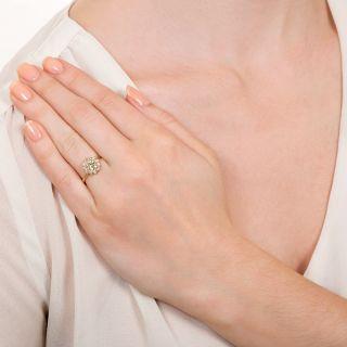 Vintage .86 Carat Diamond Cluster Ring - GIA