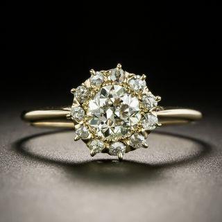 Vintage .86 Carat Diamond Cluster Ring - GIA - 3