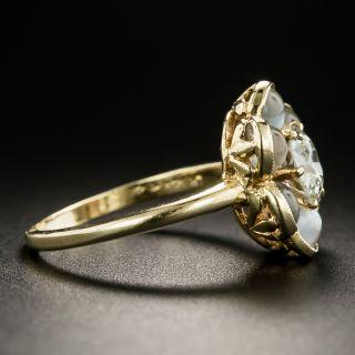 Vintage .88 Carat Diamond and Moonstone Cluster Ring by Untermeyer-Robbins