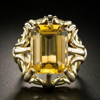 Vintage 9.50 Carat Citrine Ring - 3