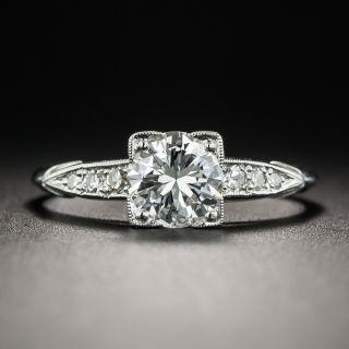Vintage .90 Carat Diamond Platinum Engagement Ring - 1