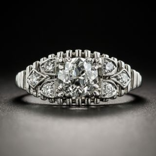 Vintage Platinum Diamond Ring - 2