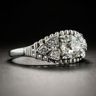 Vintage .90 Carat Platinum Diamond Engagement Ring