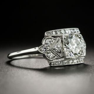 Vintage .95 Carat Diamond Platinum Engagement Ring - GIA J VS1