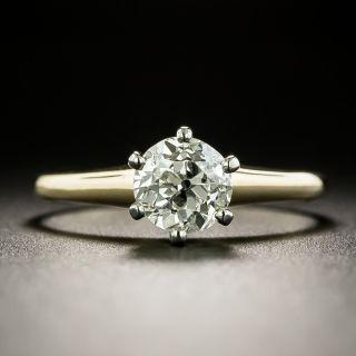 Vintage .96 Carat Solitaire Diamond Engagement Ring - GIA L VS2 - 3
