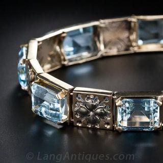 Vintage Aquamarine Bracelet