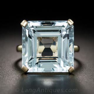 Vintage Aquamarine Solitaire Ring