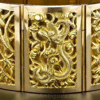 Vintage Asian Plaque Bracelet
