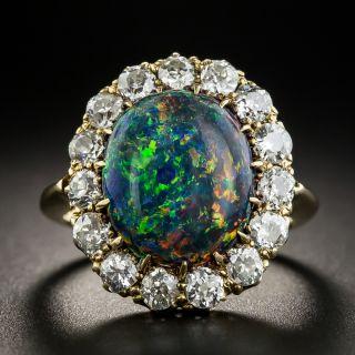 Vintage Black Opal Diamond Ring - 1