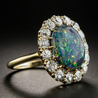 Vintage Black Opal Diamond Ring