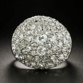 Vintage Bombé Pavé Diamond Ring - 2