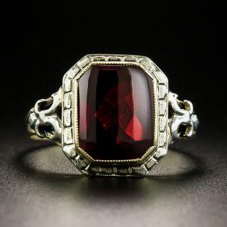 Vintage Buff-Cut Garnet Ring - 2