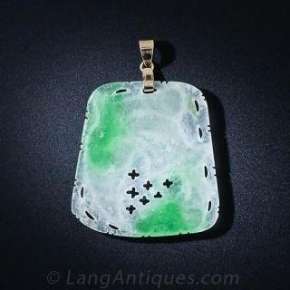 Vintage Carved Jade Pendant