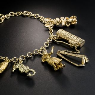 Vintage Charm Bracelet, Circa 1940s-50s