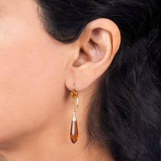 Vintage Citrine Drop Earrings