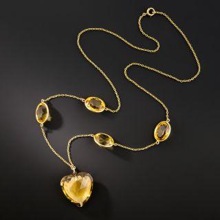 Vintage Citrine Necklace - 2