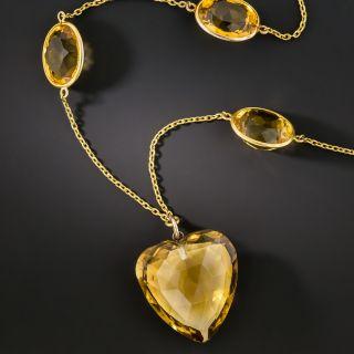Vintage Citrine Necklace