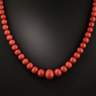 Vintage Coral Bead Necklace - 1