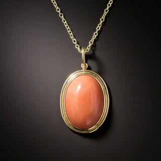Vintage Coral Drop Necklace - 1