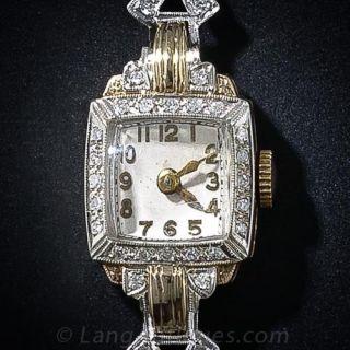 Vintage Croton Diamond  Wrist Watch
