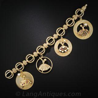 Vintage Dancer Charm Bracelet