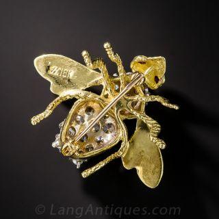 Vintage Diamond Bee Pin