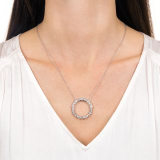 Vintage Diamond Circle Pendant