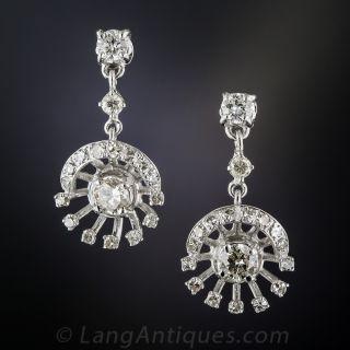 Vintage Diamond Drop Earrings  - 1