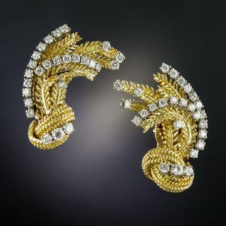 Vintage Diamond Ear Clips - 3