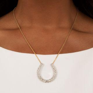 Vintage Diamond Horseshoe Necklace