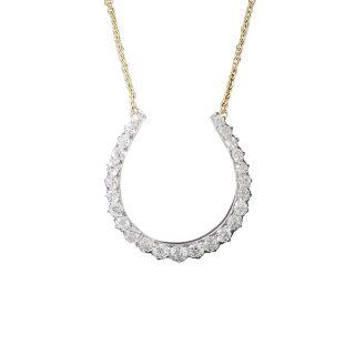 Vintage Diamond Horseshoe Necklace - 1