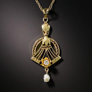 Vintage Diamond Lavaliere - 1
