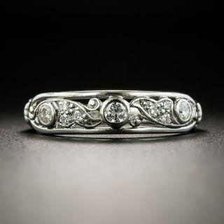 Vintage Diamond Open-Work Wedding Band by Whitehouse - 2