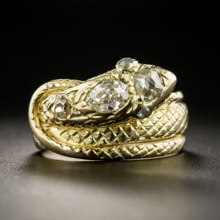 Vintage Diamond Snake Ring - 2