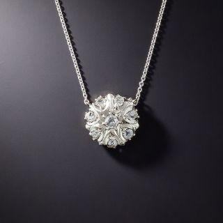 Vintage Diamond Starburst Pendant - 1