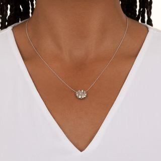 Vintage Diamond Starburst Pendant