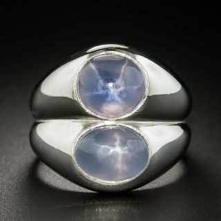 Vintage Double-Star Sapphire Ring - 2