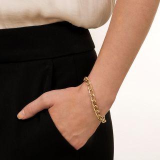 Vintage Elongated Curb Link Chain Bracelet
