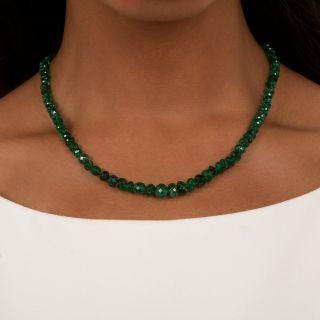 Vintage Emerald Bead Necklace
