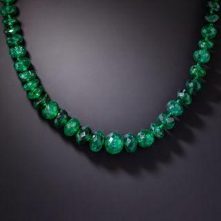 Vintage Emerald Bead Necklace - 2