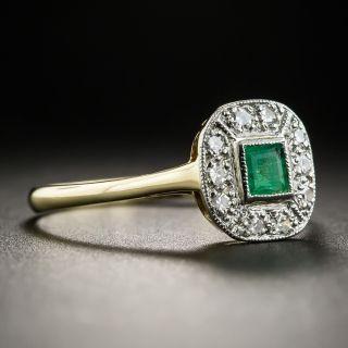 Vintage Emerald Diamond Ring