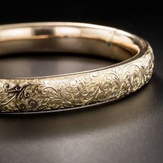 Vintage Engraved Bangle Bracelet - 1