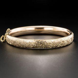 Vintage Engraved Bangle Bracelet