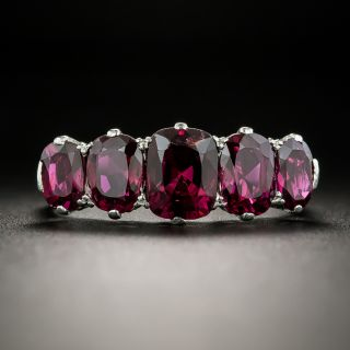 Vintage Five-Stone No-Heat Ruby Ring - 2