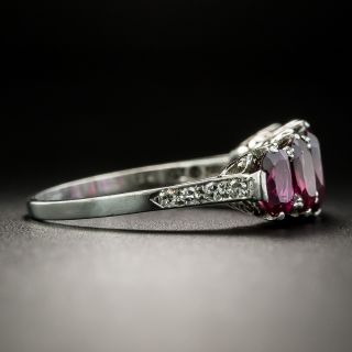 Vintage Five-Stone No-Heat Ruby Ring