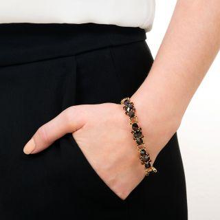Vintage Garnet Link Bracelet