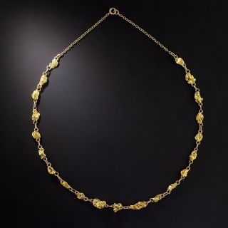 Vintage Gold Nugget Chain Necklace - 1