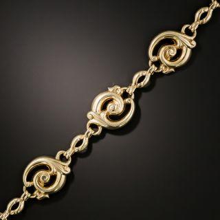Vintage Gold Scroll Bracelet - 3